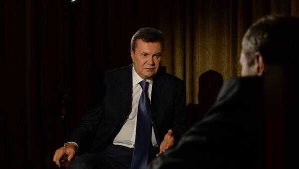 Bývalý ukrajinský prezident Viktor Janukovyč během interview pro RIA Novosti - Sputnik Česká republika