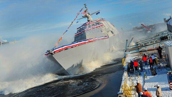 Nejnovější bitevní loď USA USS Milwaukee - Sputnik Česká republika