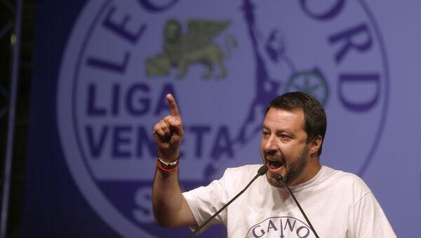 Předseda italské opoziční strany Liga Severu Matteo Salvini - Sputnik Česká republika