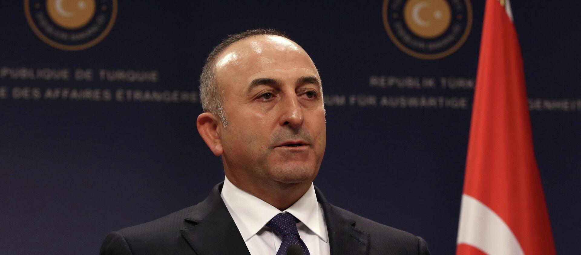 Turecký ministr zahraničních věcí Mevlut Čavušoglu - Sputnik Česká republika, 1920, 21.01.2021