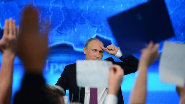 Velká tisková konference Vladimira Putina 2014 - Sputnik Česká republika
