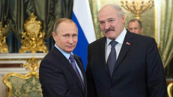 Vladimir Putin a Alexandr Lukašenko - Sputnik Česká republika