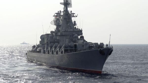 Prohlídka gardového křižníku Moskva - Sputnik Česká republika