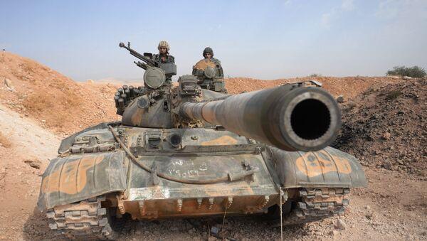 Tank T-55 v Sýrii - Sputnik Česká republika