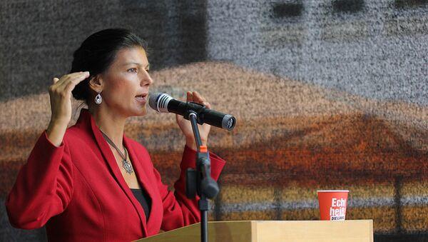 Spolupředsedkyně opoziční frakce Levice v německém Spolkovém sněmu Sahra Wagenknechtová - Sputnik Česká republika