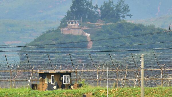 Hranice mezi Jižní Koreou a KLDR - Sputnik Česká republika