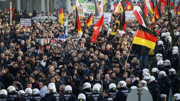 Demonstrace hnutí PEGIDA v Kolíně - Sputnik Česká republika