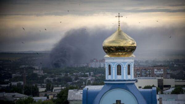 Bombardování osídlených čtvrtí Luhanska - Sputnik Česká republika