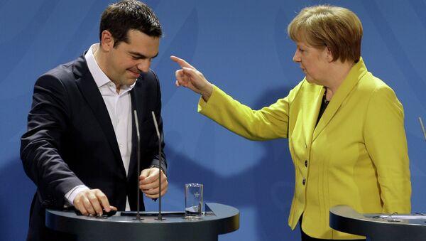 Německa kancléřka Angela Merkelová a řecký premiér Alexis Tsipras - Sputnik Česká republika