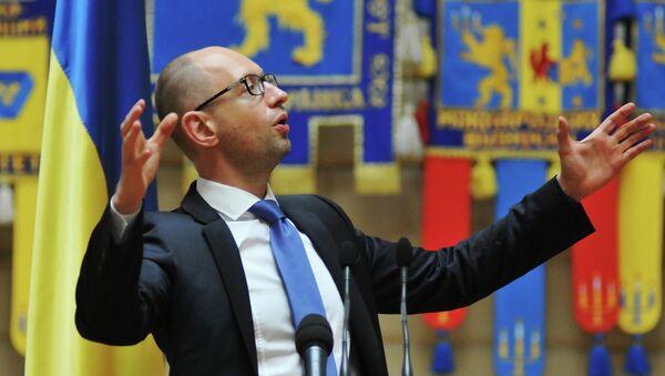 Arsenij Jaceňuk, ukrajinský premiér - Sputnik Česká republika