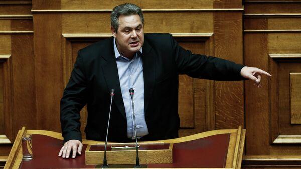 Řecký ministr obrany Panos Kammenos - Sputnik Česká republika