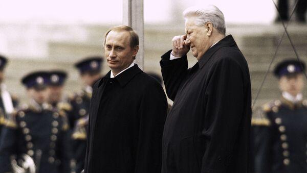Boris Jelcin a Vladimír Putin - Sputnik Česká republika