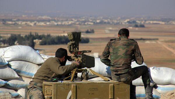 Syrská armáda v Aleppu - Sputnik Česká republika
