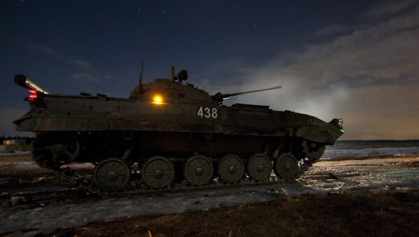 Cvičení 4. gardové Kantemirovské tankové divize - Sputnik Česká republika