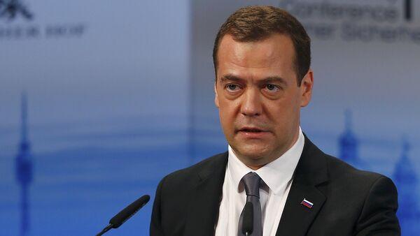 Ruský premiér Dmitrij Medvěděv na Mnichovské bezpečnostní konferenci - Sputnik Česká republika