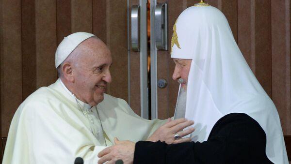 Papež František a patriarcha Kirill - Sputnik Česká republika