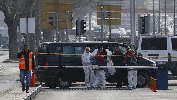 Místo výbuchu v Ankaře - Sputnik Česká republika