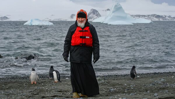 Návštěva patriarchy moskevského Kirilla v Antarktidě - Sputnik Česká republika