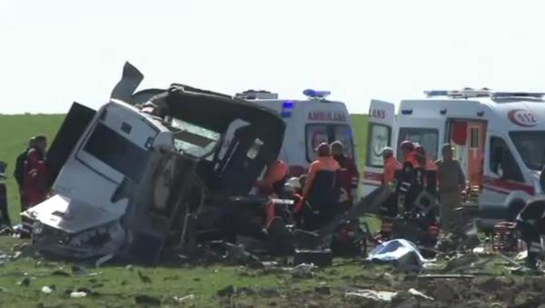 Na Internetu bylo zveřejněno video z místa útoku na turecké vojáky - Sputnik Česká republika