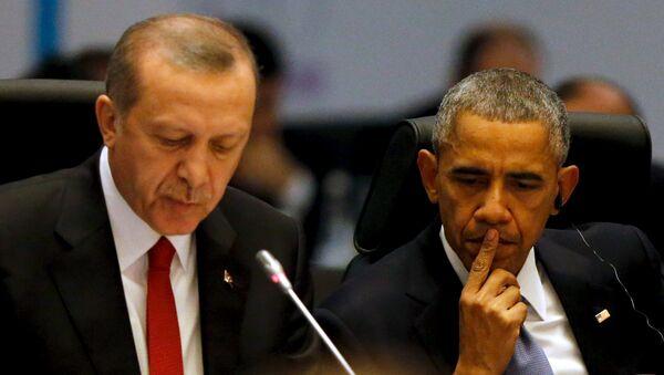 Tayyip Erdogan a Barack Obama - Sputnik Česká republika