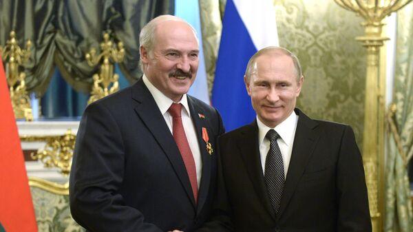 Alexandr Lukašenko a Vladimir Putin - Sputnik Česká republika