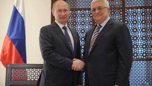 Vladimir Putin a Mahmúd Abbás - Sputnik Česká republika