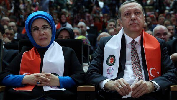 Manželský pár Erdoganových - Sputnik Česká republika
