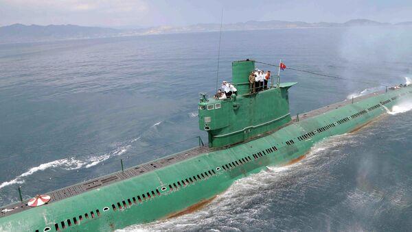 Kim Čong-un na ponorce - Sputnik Česká republika