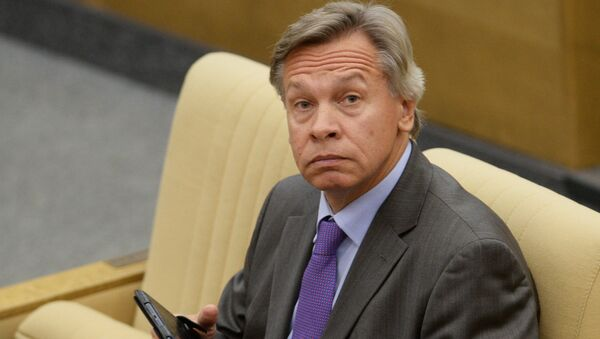Ruský senátor Alexej Puškov - Sputnik Česká republika