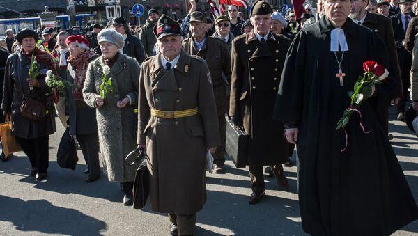 Průvody účastníků lotyšské legie Waffen SS - Sputnik Česká republika