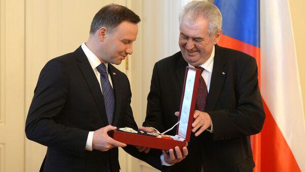 Andrej Duda a Miloš Zeman - Sputnik Česká republika