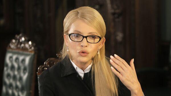 Předsedkyně frakce Otčina (Baťkivščyna) Julija Tymošenková - Sputnik Česká republika