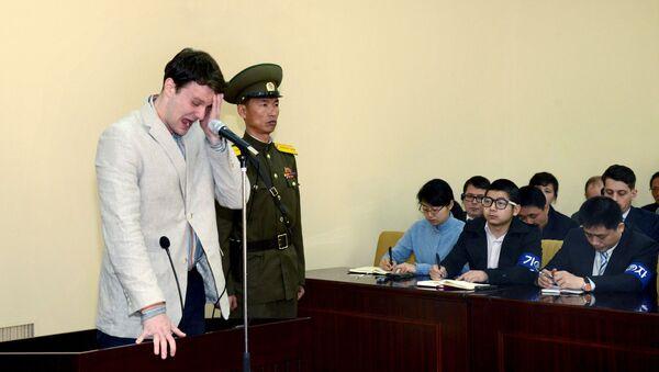 V Severní Koreji byl odsouzen k 15 letům vězení americký student Otto Warmbier - Sputnik Česká republika