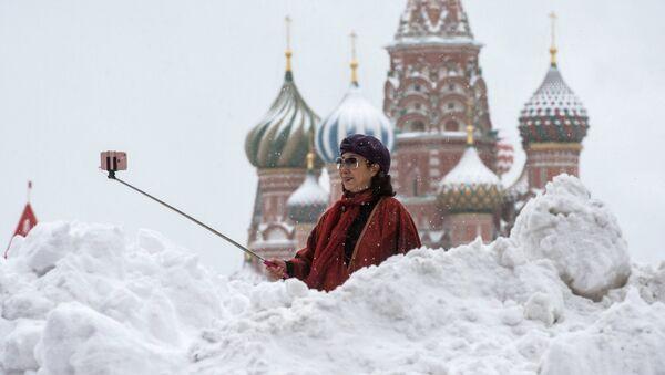 Turistka v Moskvě - Sputnik Česká republika