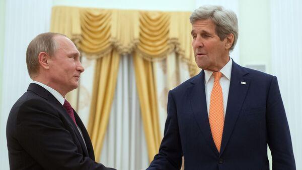 Vladimir Putin a John Kerry - Sputnik Česká republika