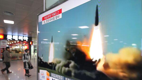Odpálení rakety KLDR - Sputnik Česká republika