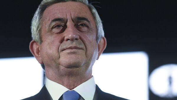 Arménský prezident Serž Sargsjan - Sputnik Česká republika