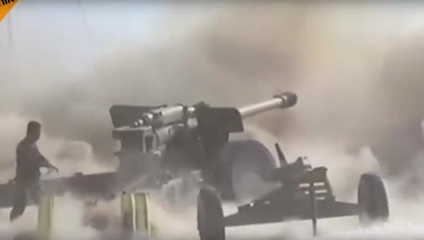 """Akce ruských """"aligátorů"""" v Sýrii se dostala na videu na YouTube - Sputnik Česká republika"""