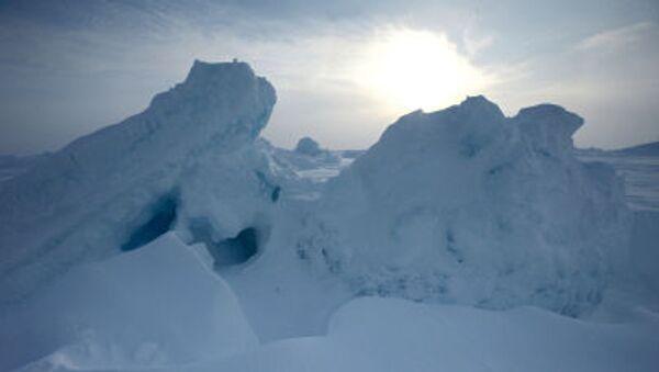 Ledovci vedle ruské výzkumné stanici «Severní pól-2015» - Sputnik Česká republika