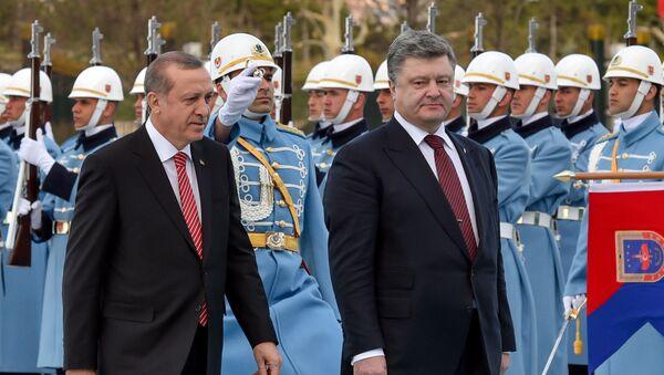 Recep Tayyip Erdogan a Petro Porošenko - Sputnik Česká republika
