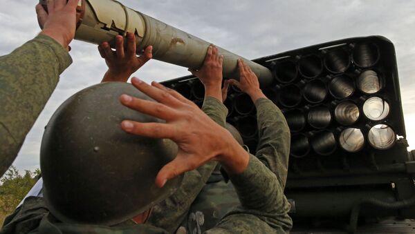 Dělostřelecká palba pobřežních vojsk flotily - Sputnik Česká republika