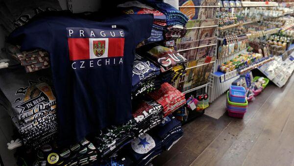 Tričko c nápisem Prague / Czechia - Sputnik Česká republika