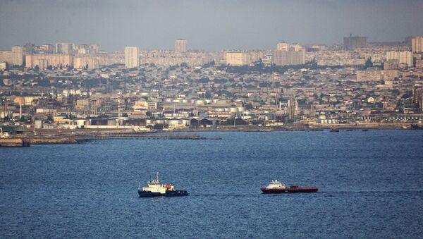Kaspické moře, pohled na Baku - Sputnik Česká republika