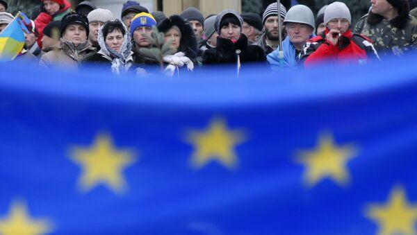 Vlajka EU v Kyjevě - Sputnik Česká republika