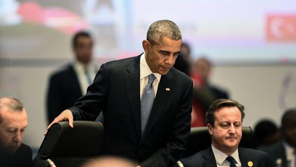 Barack Obama a David Cameron - Sputnik Česká republika