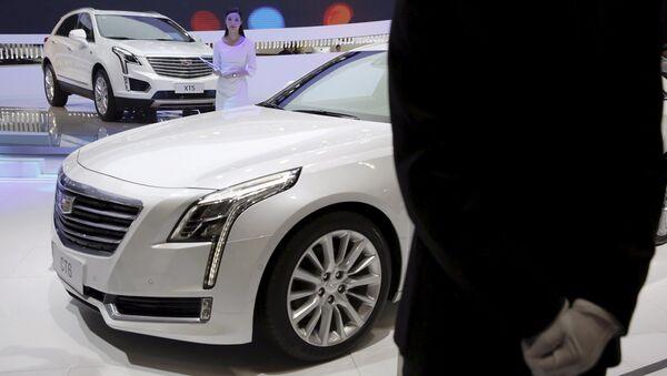 Cadillac XT5 na výstavě automobilů v Pekingu - Sputnik Česká republika