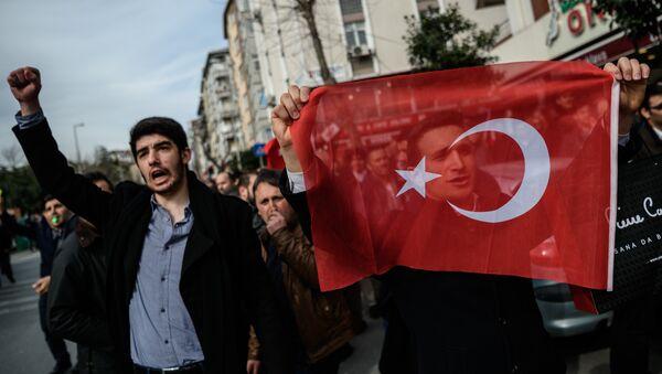 Protestní akce v Istanbulu - Sputnik Česká republika