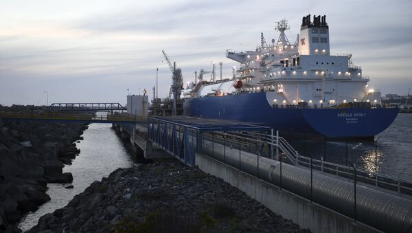 Cisternová lod´ Creole Spirit s americkým plynem v Portugalsku. Ilustrační foto - Sputnik Česká republika