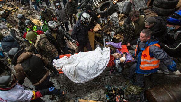 Zraněný demonstrant - Sputnik Česká republika