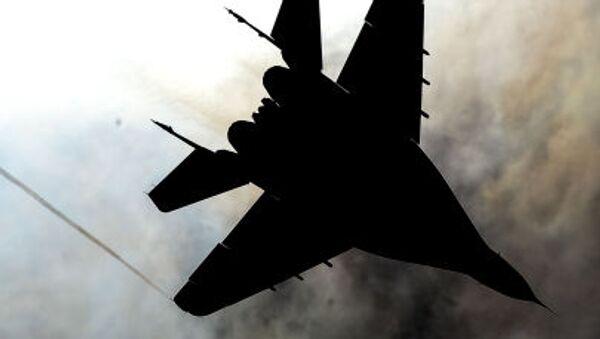 Stíhačka MiG-29 akrobatické skupiny Striži na vojenském letišti Kubinka - Sputnik Česká republika